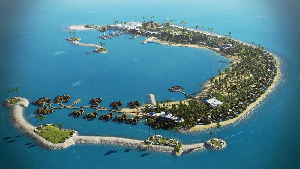Mep Works Anantara Island Resort Under Construction H Etaireia